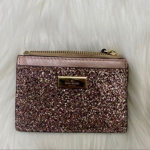 Kate spade glitter sunset lane eden card holder